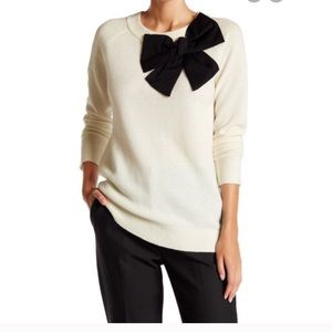 Kate Spade wool sweater with big bow tie